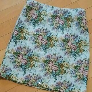 シマムラ(しまむら)のしまむら ゴブラン織り花柄スカート(ミニスカート)