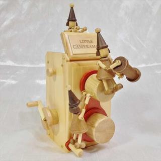 サンキョー(SANKYO)の二眼レフカメラ からくりオルゴール 小人 天然木 日本製 小さな世界 プレゼント(オルゴール)