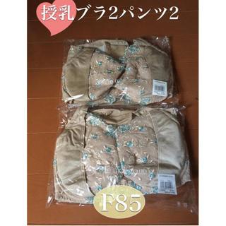 マタニティ授乳ブラ&ショーツ   F85 2組セット  (マタニティ下着)
