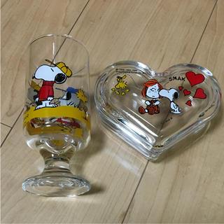 スヌーピー(SNOOPY)のSNOOPYグラスと小物入れのセット(グラス/カップ)