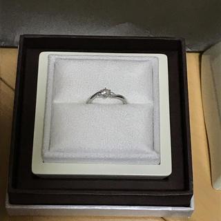 LUCIE 婚約指輪 ほぼ未使用 証明書 グレーディングレポート付き(リング(指輪))
