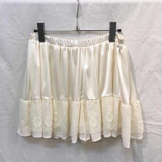 チュウチュ(ciu ciu)のCiu ciu チュウチュ 裾レースショートパンツ オフホワイト ほぼ新品(ショートパンツ)