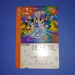 ディズニー(Disney)のディズニーリゾートライン 使用済み ・25周年(鉄道乗車券)