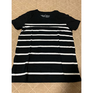 無印良品 新品 Tシャツ レディースSサイズ ブラック×ホワイト ボーダー