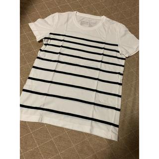 無印良品 新品 Tシャツ レディースSサイズ ホワイト×ブラック ボーダー