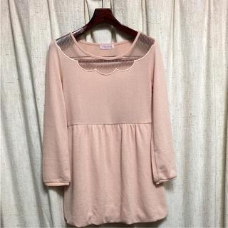 シマムラ(しまむら)のLサイズ ワンピース ピンク色(ひざ丈ワンピース)
