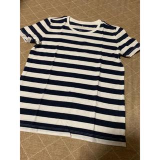 無印良品 新品 レディースSサイズ ボーダー Tシャツ ネイビー×ホワイト 半袖