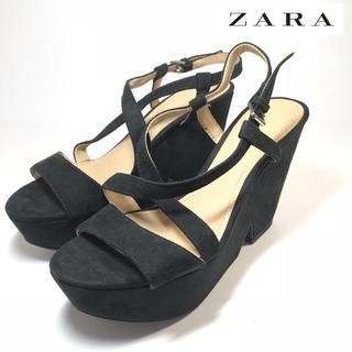 ザラ(ZARA)の【ZARA】ザラ 厚底 サンダル スエード 23.5cm(サンダル)