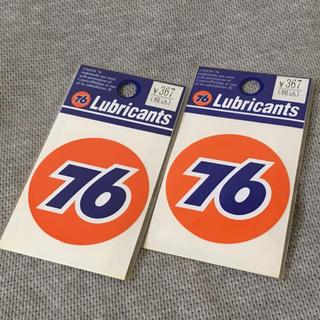セブンティーシックスルブリカンツ(76 Lubricants)のLubricants 76★UNOCAL 丸型ステッカー2枚セット UNION(車外アクセサリ)