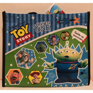 トイストーリー(トイ・ストーリー)の新品 ディズニー トイストーリー レッスンバッグ 手提げ袋 ビニール製 1枚(レッスンバッグ)