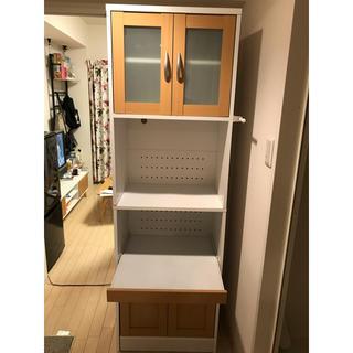 キッチン家電収納 スリム 幅58cm 高さ182cm ハイタイプ 収納家具(キッチン収納)