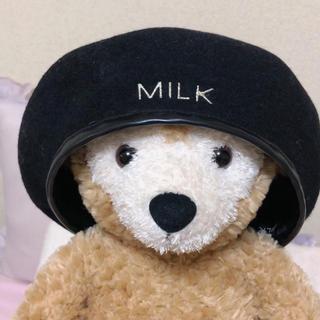 ミルク(MILK)のMILK 今期新作 ベレー帽 ミルク(ハンチング/ベレー帽)