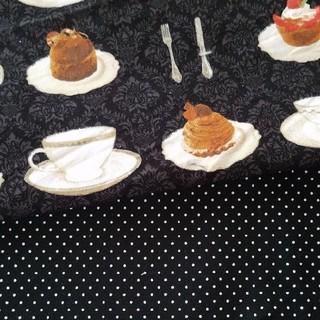 ケーキ柄 半幅帯&半衿【出品限り】(帯)