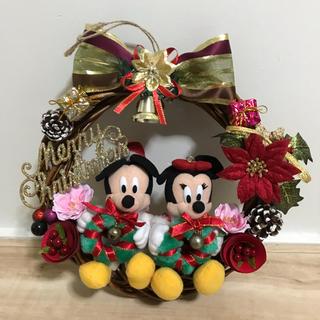 ディズニー(Disney)の値下げ致しました。クリスマス用壁掛けリース(リース)