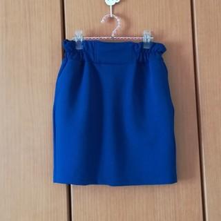 しまむら - ブルーの鮮やかなタイトスカート