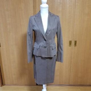 ヴォイスメール(VOICEMAIL)のボイスメール スカートスーツ ブラウン(スーツ)