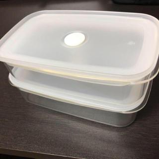 ムジルシリョウヒン(MUJI (無印良品))の無印良品 密封容器 ほぼ未使用 2個セット(容器)