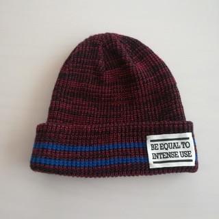ジーユー(GU)のGU 新品 ニット帽 ワイン レッド ボルドー レディース 秋冬 未使用(ニット帽/ビーニー)