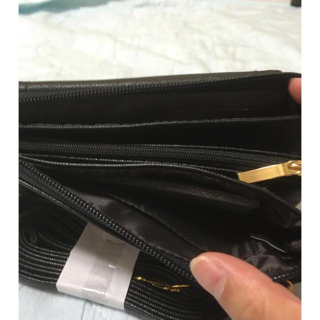 しまむら(シマムラ)の新品しまむらリボンお財布ショルダー・ブラック レディースのファッション小物(財布)の商品写真