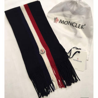 MONCLER - 新品本物モンクレールメンズマフラー ラインマフラー