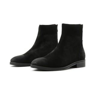 テットオム(TETE HOMME)のテットオム バックジップブーツ 新品未使用 サイズ6 24.5cm ブラック(ブーツ)