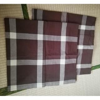 無印良品 枕カバー 長方形二枚セット 茶(シーツ/カバー)