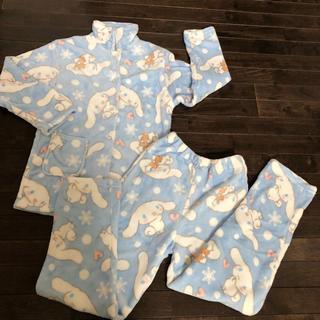 シナモロール(シナモロール)のサンリオ シナモロール もこふわパジャマ 新品  140cm(パジャマ)