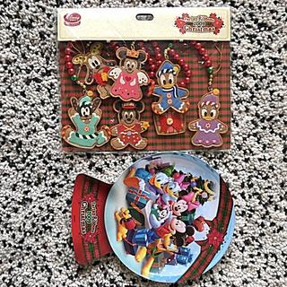 ディズニー(Disney)の【Disney】Christmas ガーランド&プレート 新品✨ SALE‼️(ガーランド)
