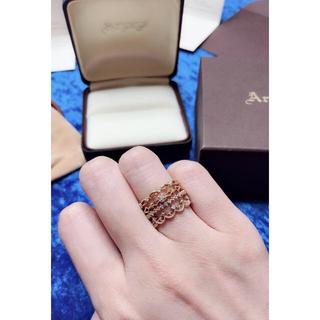 アガット(agete)のARPEGE アルページュ K10イエローゴールド ダイヤ リング4本セット(リング(指輪))