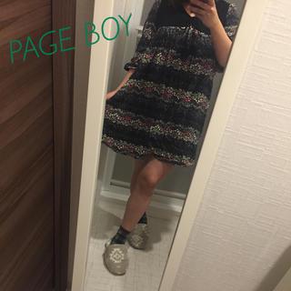 ページボーイ(PAGEBOY)のPAGE BOY 花柄チュニック ミニワンピース(チュニック)