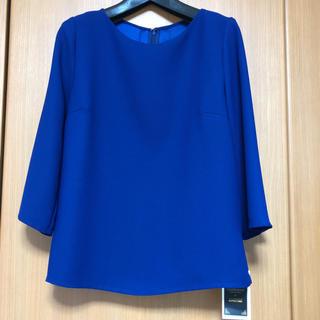 アルファキュービック(ALPHA CUBIC)のアルファキュービック ブラウス ブルー 9 新品(シャツ/ブラウス(長袖/七分))
