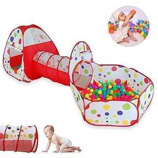 楽しく知育☆子供用テント ボールプール 折り畳み式 トンネルバスケット(ベビージム)