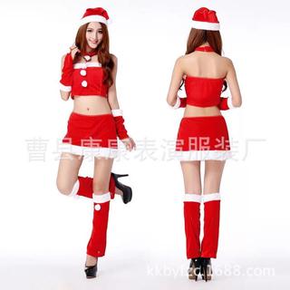 へそ出しサンタコスチューム♡クリスマス コスプレ 仮装 衣装 パーティ(衣装一式)