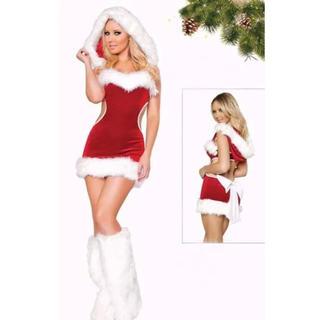 セクシー♡背中魅せ♡モノキニ風サンタコスチューム♡インポート クリスマス ワンピ(衣装一式)