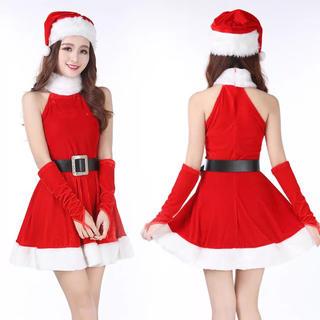 オシャレ♡アメリカンスリーブのサンタコスチューム♡コスプレ クリスマス 仮装 冬(衣装一式)