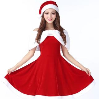 イチオシ!とっても可愛いデザインのサンタコスチューム♡コスプレ ワンピース (衣装一式)