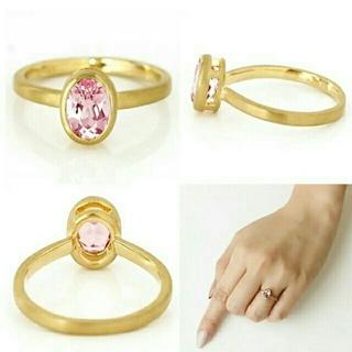k18☆bizoux☆モルガナイトリング(リング(指輪))