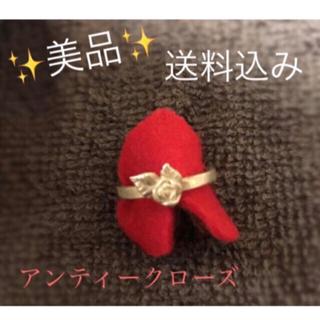 中古✨美品✨送料無料✨  バラのシルバーピンキーリング 指輪 (リング(指輪))