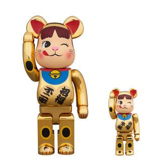 BE@RBRICK 招き猫 ペコちゃん 金メッキ 弐 100% & 400%