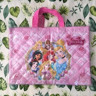 ディズニー(Disney)の新品♡プリンセス♡ピンク♡レッスンバッグ♡幼稚園、入園準備♡キルト♡通園(通園バッグ)