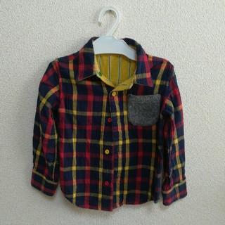 リトルベアークラブ(LITTLE BEAR CLUB)のLittle bear club リバーシブル チェックシャツ size110(Tシャツ/カットソー)