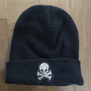 スナールエクストラ(Snarl extra)のスナールエクストラ ニット帽 ニットキャップ スカル ラインストーン snarl(ニット帽/ビーニー)