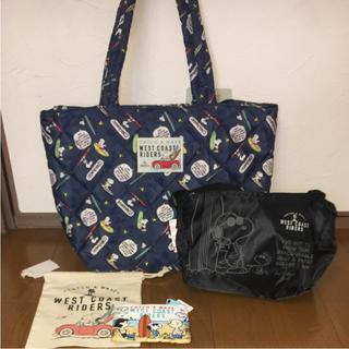 シマムラ(しまむら)のしまむら スヌーピー ハッピー バッグ 4点セット 新品 タグ付き ☆ ②(トートバッグ)