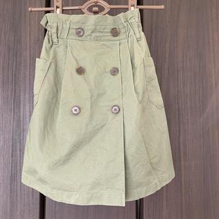 ジーユー(GU)のGU kids トレンチスカート 130サイズ(スカート)