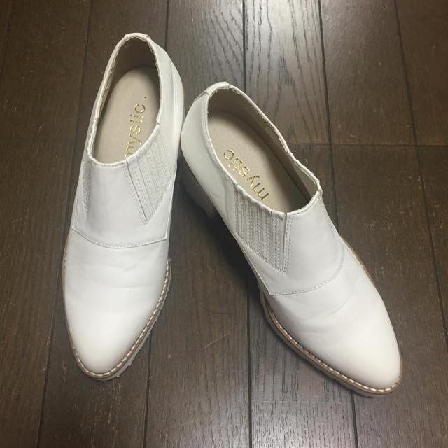 mystic(ミスティック)の白 ローファーパンプス レディースの靴/シューズ(ローファー/革靴)の商品写真