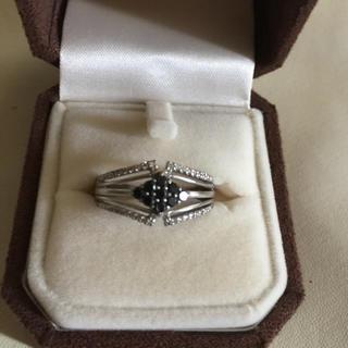 18金ブラックダイア、ダイアモンド指輪0.4カラット(リング(指輪))