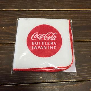 コカコーラ(コカ・コーラ)の新品非売品コカコーラミニタオルハンカチ工場見学(ノベルティグッズ)