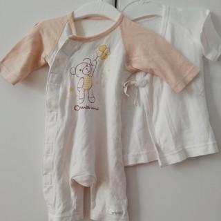 コンビミニ(Combi mini)のコンビミニ 新生児ロンパース 新品短肌着付き(カバーオール)