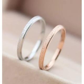 チタンステンレスリング ピンキーリング(リング(指輪))