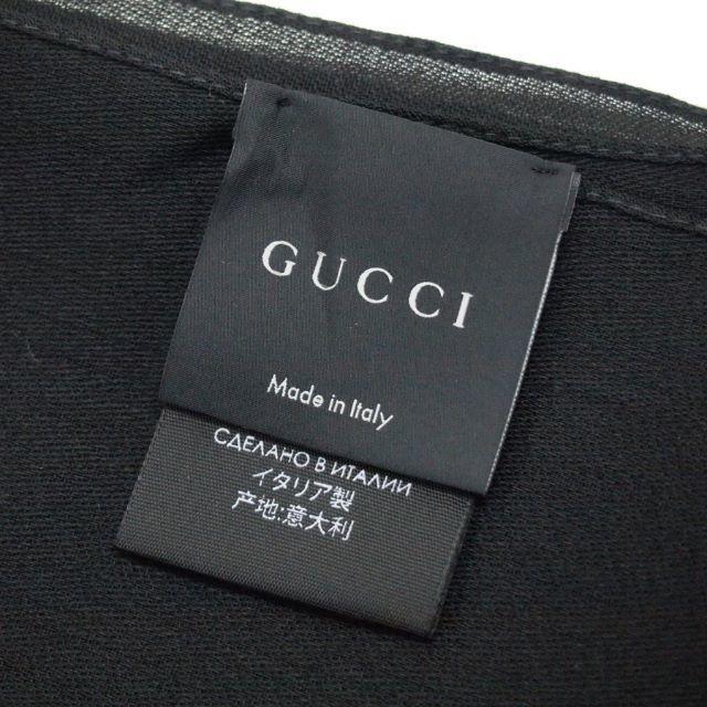Gucci(グッチ)の21 GUCCI マフラー/ストール 男女兼用 SILK混合 ブラック メンズのファッション小物(マフラー)の商品写真